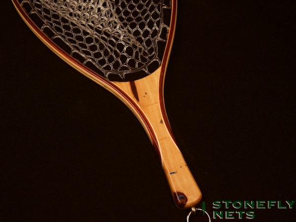 Spalted Tamarind Landing Net - Stonefly Nets - Wood Landing Nets