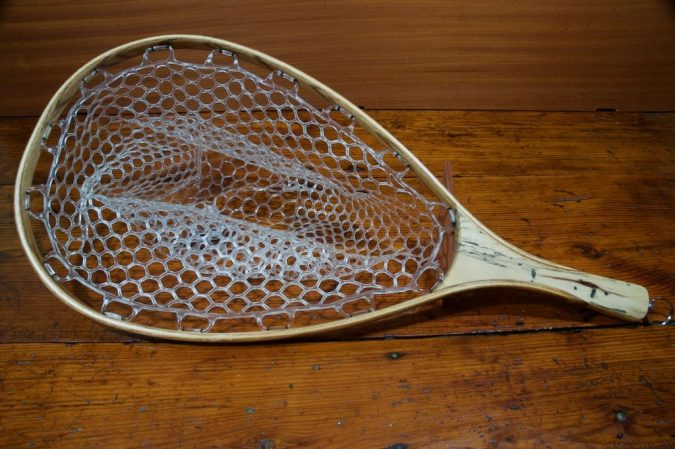 Spalted Tamarind Landing Net - Stonefly Nets - Wood Landing Nets