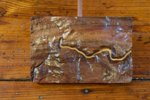 Wood Topographic Fly Fishing Maps