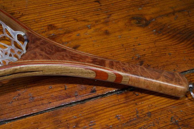 Red Mallee Burl Landing Net - Stonefly Nets - Wood Landing Nets