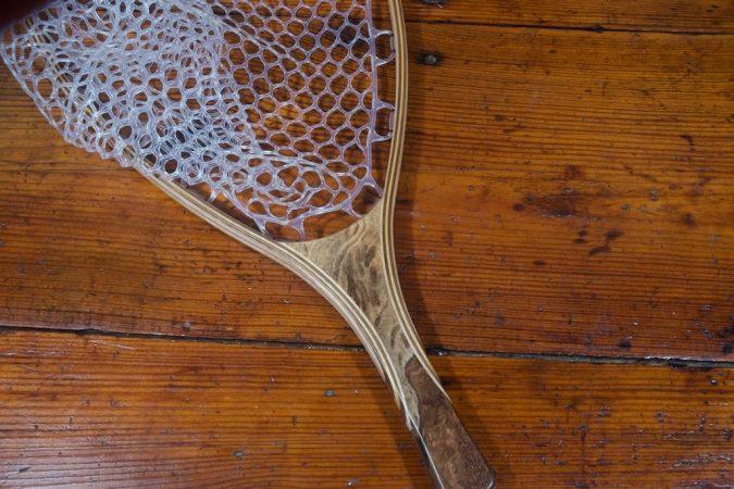 Oak Burl Landing Net - Stonefly Nets - Wood Landing Net